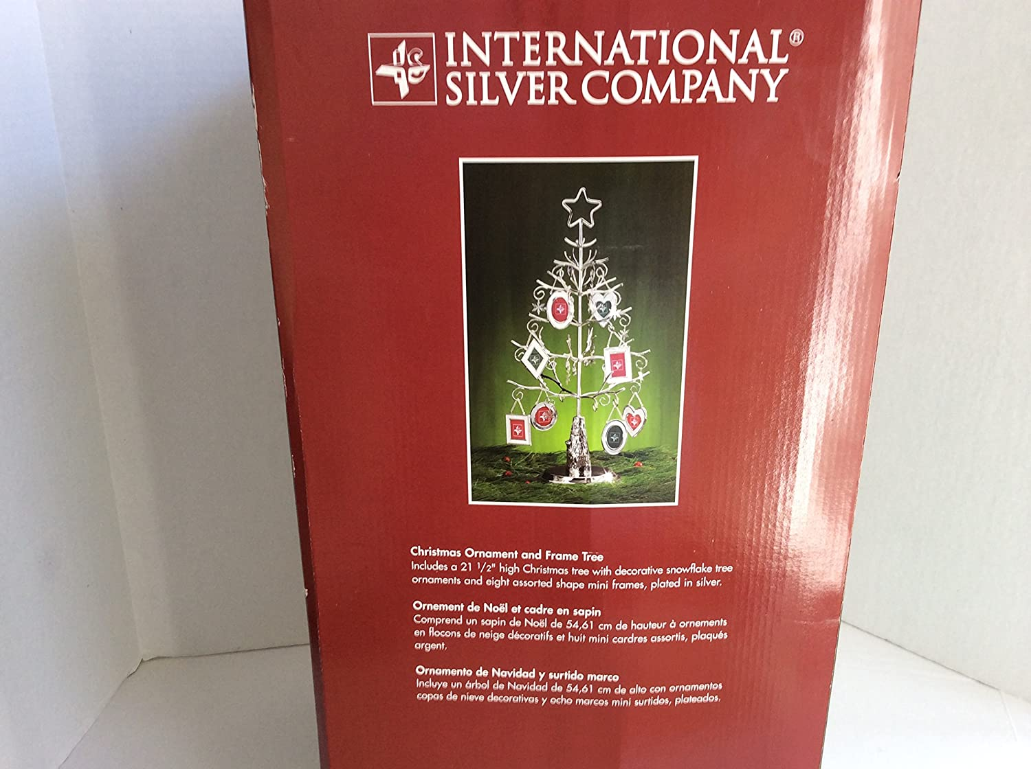 International Silver Company Christmas Ornament And Frame Tree