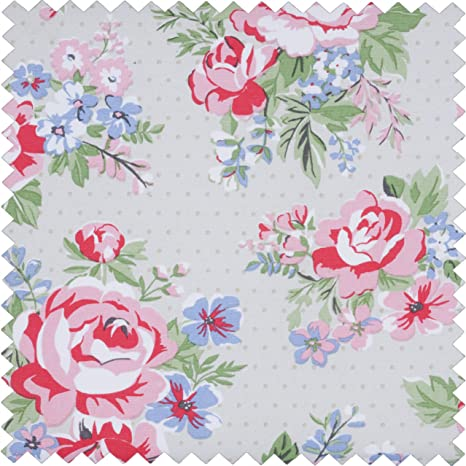 HobbyGift MRL\443 floral 24 x 31 x 20 cm rosa Caja de costura//organizador grande