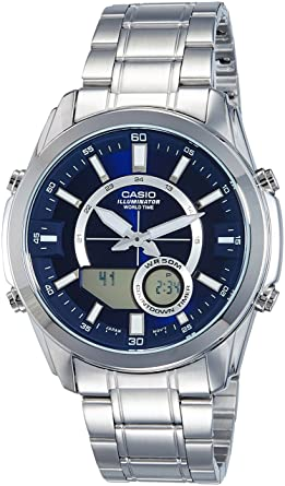 Casio AMW810D-2AV Mens Stainless Steel Active Dial Watch