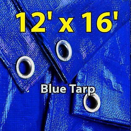 12u0027 X 16u0027 Blue Multi-purpose Waterproof Poly Tarp Cover with Tent Shelter  sc 1 st  Amazon.com & 12u0027 X 16u0027 Blue Multi-purpose Waterproof Poly Tarp Cover with Tent ...