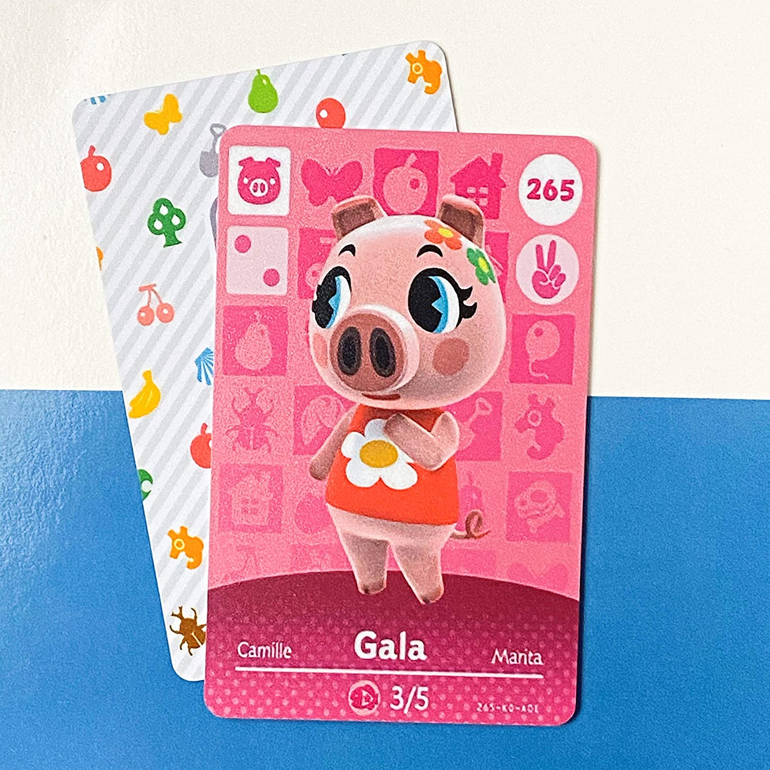 No.265 Gala Animal Crossing Villager Cards Series 3. Third Party NFC Card. Water Resistant