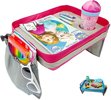 Amazon.com: Kids Travel Tray - Car Seat Lap Tray for Children ...