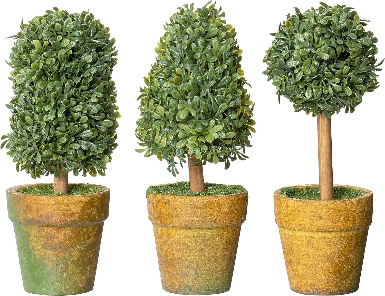 Amazon Com Red Co Small Artificial Topiary Bush Plastic Plants