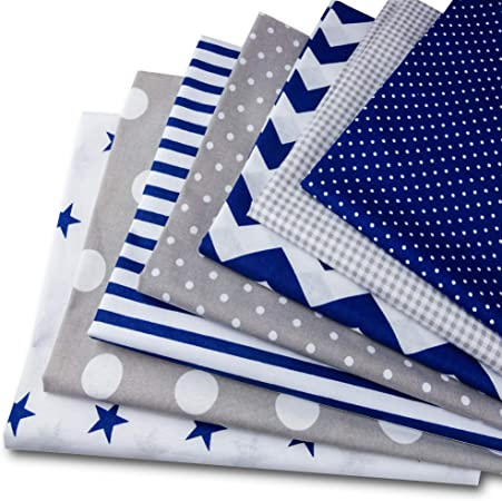Telas decorativas Costura y Manualidades por metros con Tejido no Tejido Tela algodon Telas Patchwork 4 piezas 50 x 80 cm Retales Tela para coser