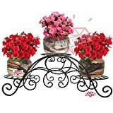 NAYAB Tuscan Style Planter Display Stand Table Top Tier Step Style and Indoor/Outdoor Garden Corner Shelf for Flower Pots (3 Tier (1Pc))