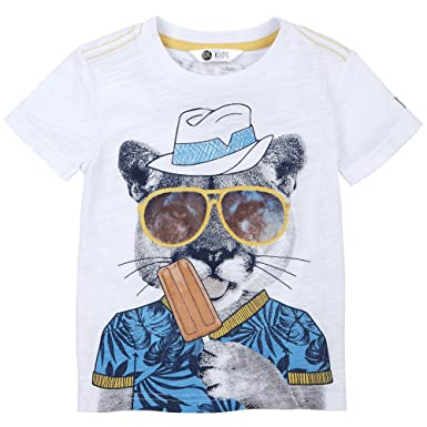 49a00c56a Amazon.com: Petit Lem Boys' Tropicool T-Shirt, 101, 2: Clothing