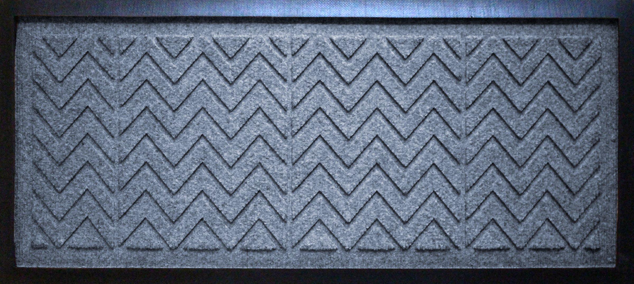 AquaShield Chevron Boot Tray Mat, 15'' x 36'', Bluestone