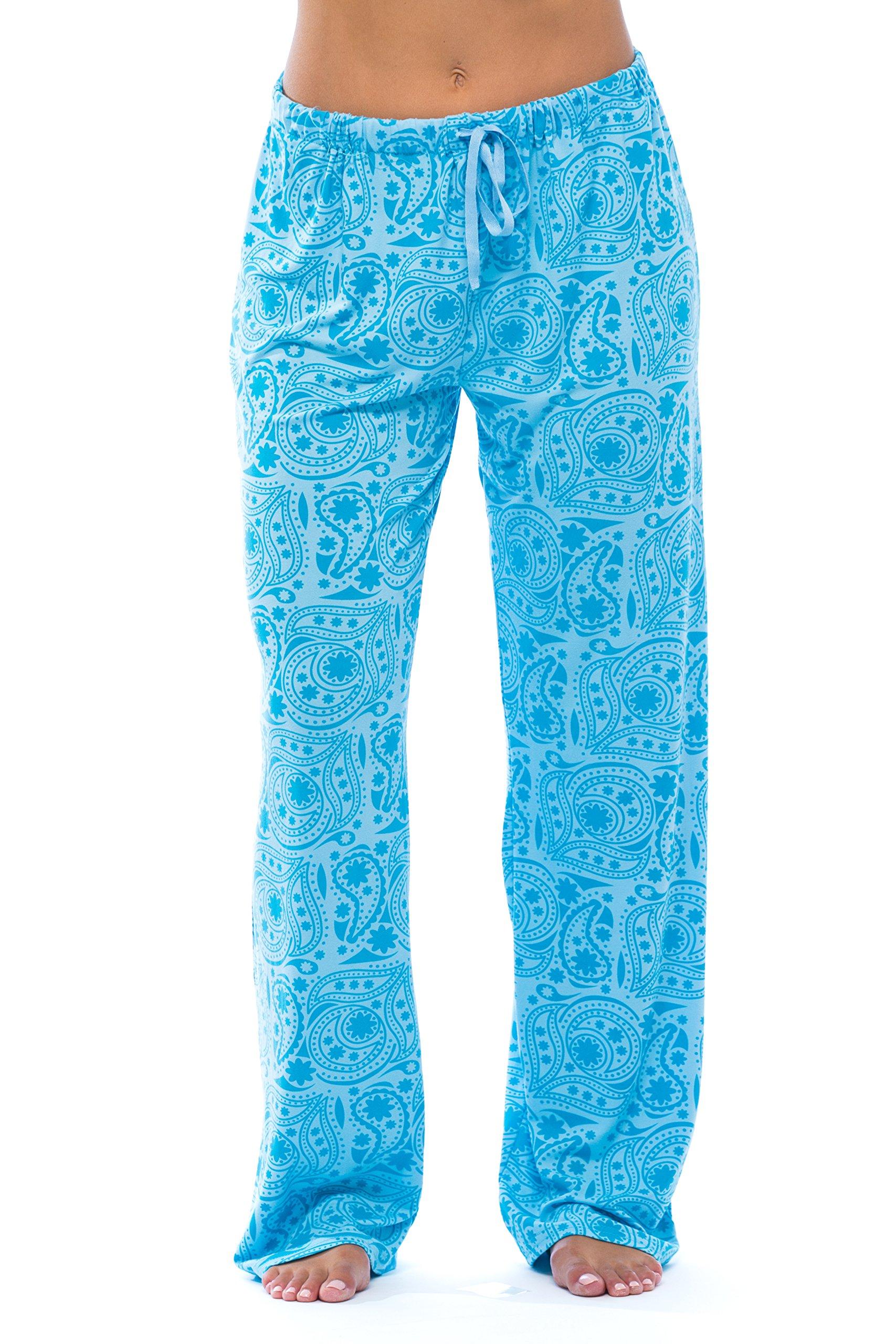 6333-10085-3X Just Love Women Pajama Pants - PJs - Sleepwear Paisley Aqua 3X Plus