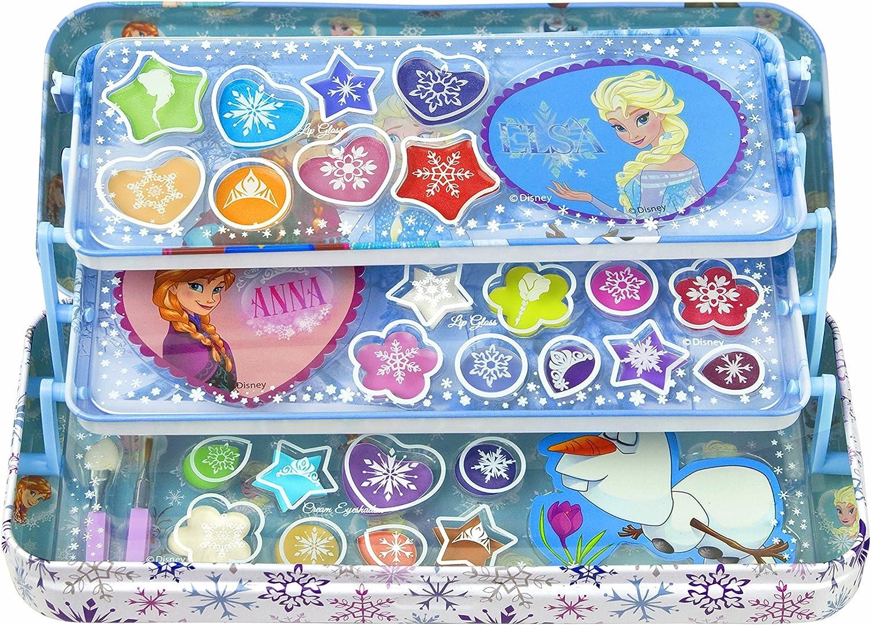 Disney Frozen - Set de maquillaje con lata metálica (Markwins 9606710): Amazon.es: Juguetes y juegos