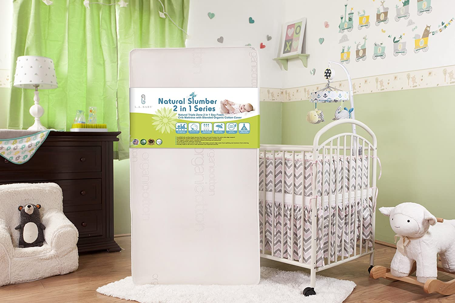 Foam Tegels Baby : Amazon la baby natural triple zone in soy foam crib
