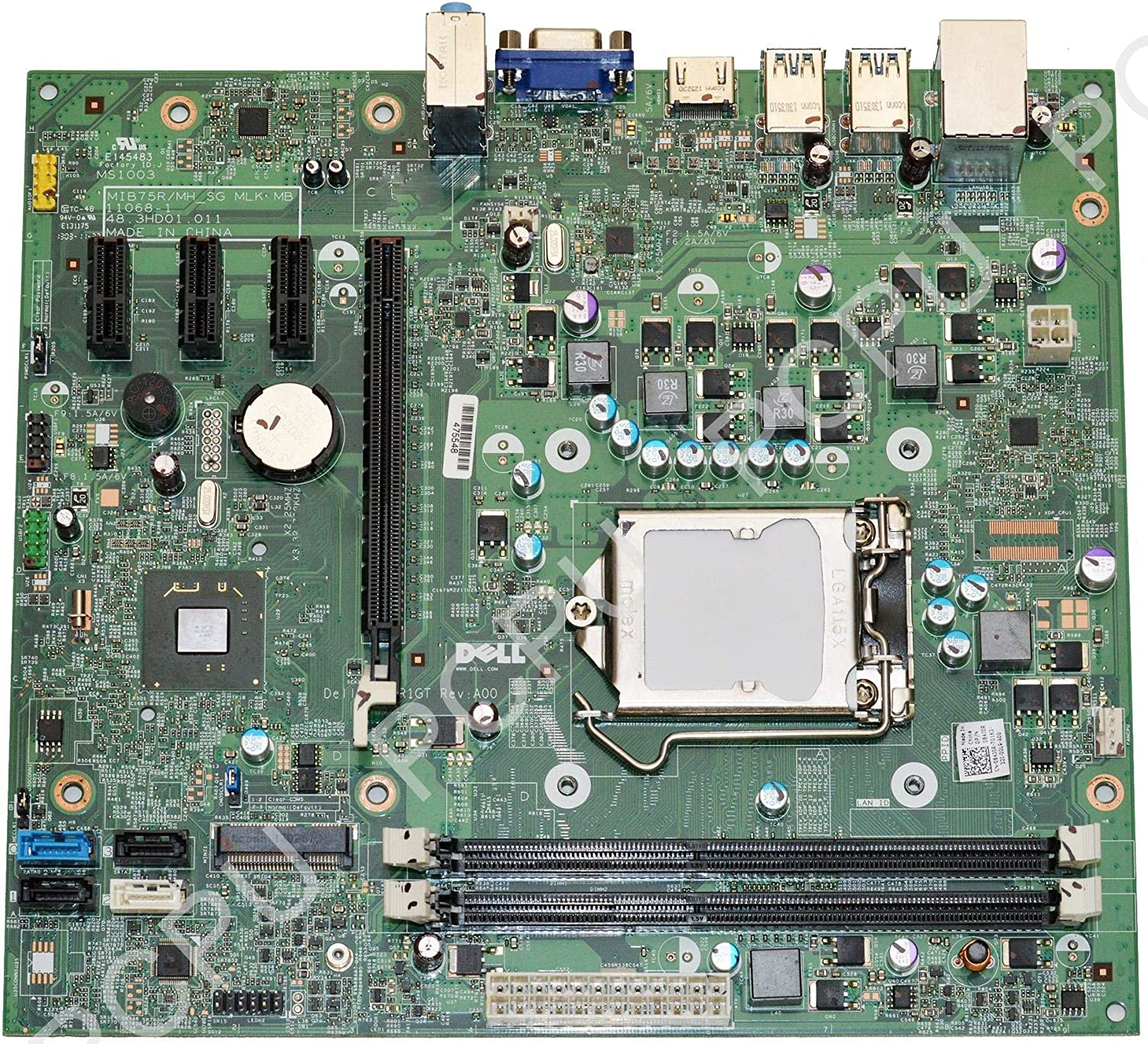 Dell Inspiron 660 Vostro 270 Intel Socket LGA1155 Desktop Motherboard 84J0R 084J0R (Renewed)