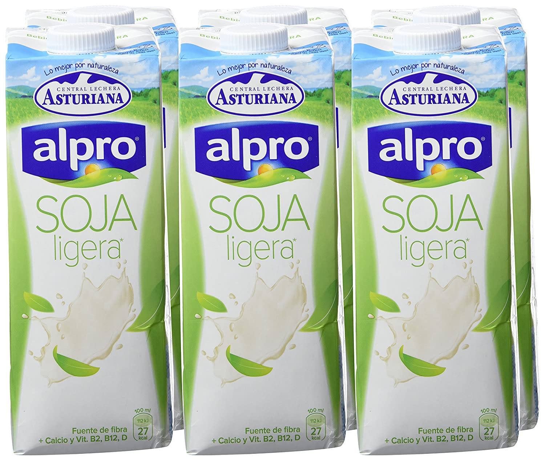 Alpro Central Lechera Asturiana Bebida de Soja Ligera Calcio - Paquete de 6 x 1000 ml - Total 6000 ml: Amazon.es: Amazon Pantry