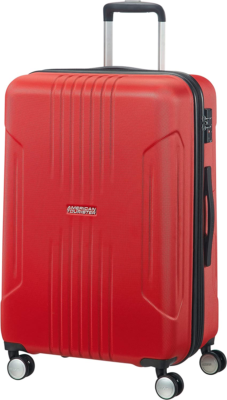 American Tourister 88745-0501 - Bolsa de Viaje, 71 L, 4 Rueda(s), Cremallera, Color Rojo