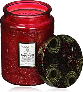 product image for Voluspa Goji and Tarocco Orange Large Glass Jar Candle, 16 Ounce