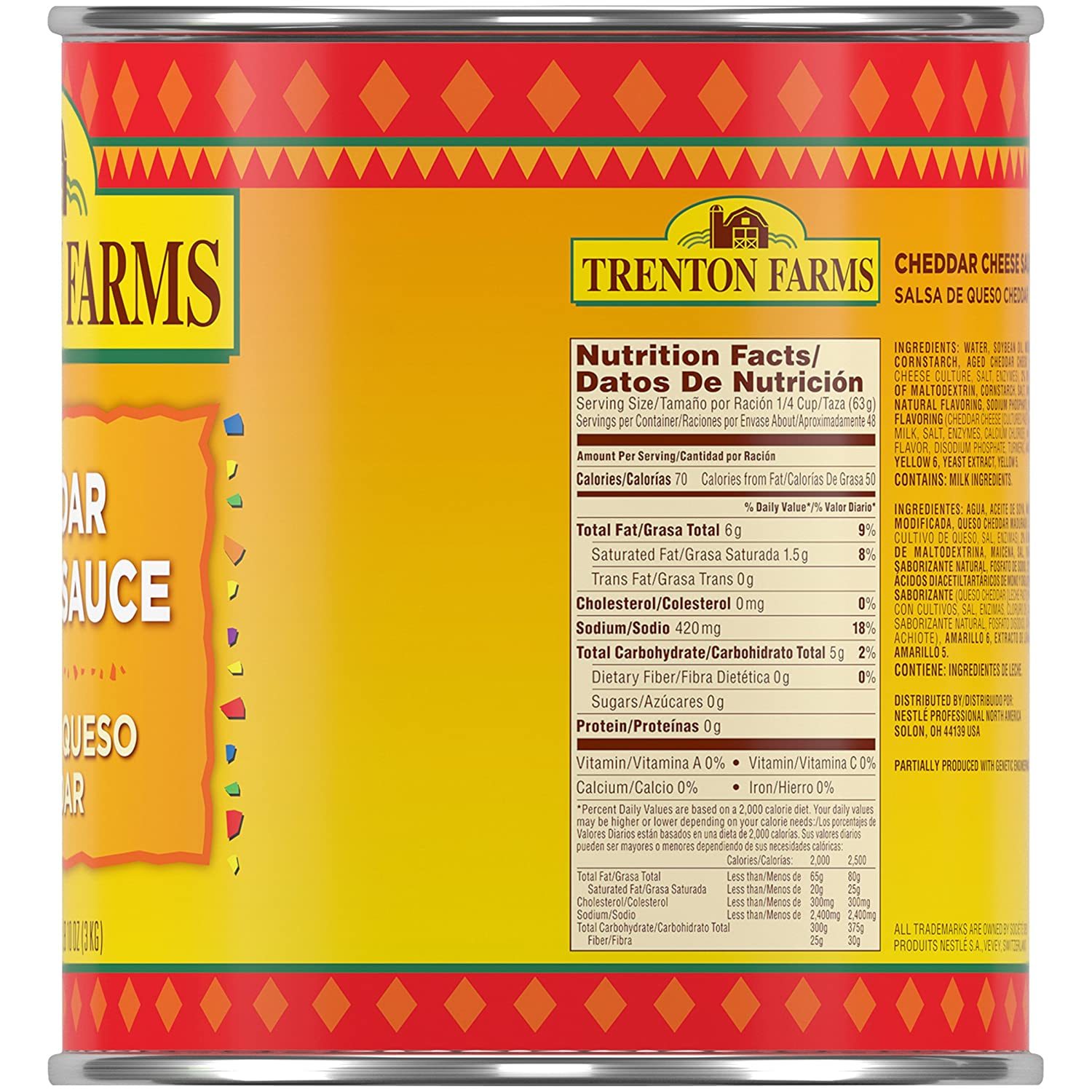 Amazon.com: Trenton Farms Cheddar Cheese Sauce, Nacho Cheese ...