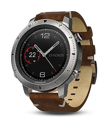 Populære Amazon.com: Garmin Fenix Chronos, Steel with Vintage Leather Watch BN-83