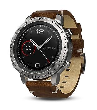 Garmin Fenix Chronos Cuero Exr Reloj, Talla Única