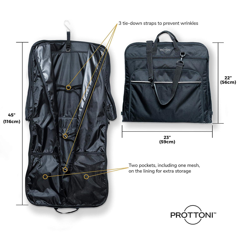 """Amazon.com: Prottoni Bolsa de 44"""" para llevar trajes ..."""