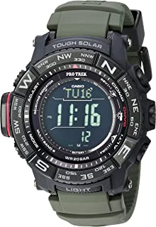 2f0594d55 Casio Men's 'PRO TREK' Tough Solar Powered and Stainless Steel Watch, Color: