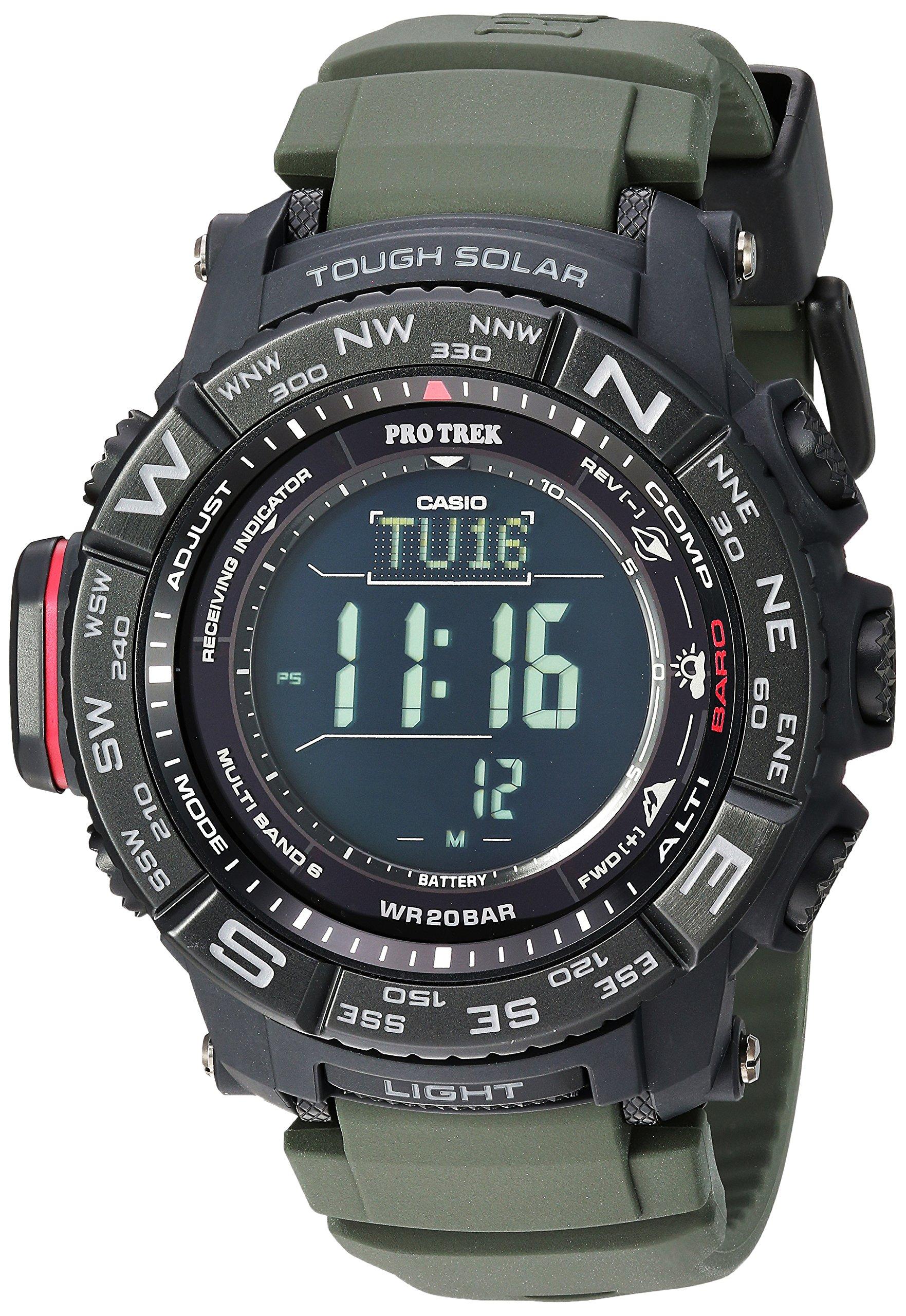 Casio Men's Pro Trek Stainless Steel Quartz Watch with Resin Strap, Black, 20.2 (Model: PRW-3510Y-8CR) by Casio (Image #1)