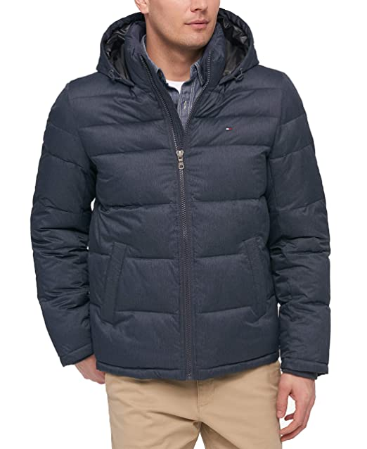 e38dc7524 Tommy Hilfiger Men's Classic Hooded Puffer Jacket