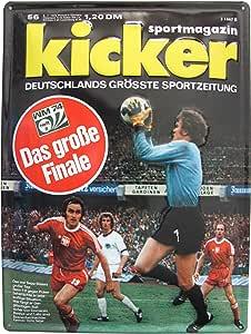 Kicker – Revista Deporte WM 74 Cuaderno 8 – Cartel de Chapa 39 x 29 cm: Amazon.es: Hogar