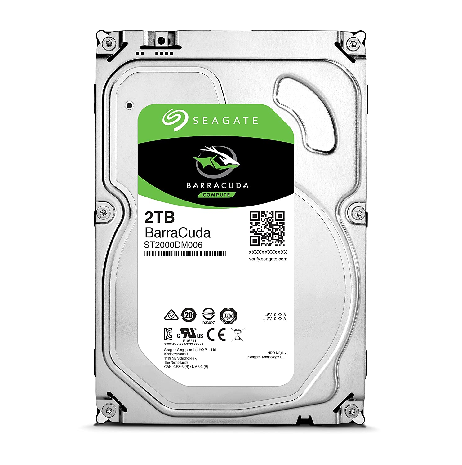 2TB Seagata Barracuda 3 5-inch SATA 6Gbps Internal Desktop HDD (64MB cache,  7200 RPM)