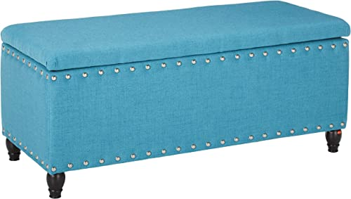 Christopher Knight Home Tatiana Fabric Storage Ottoman, Teal
