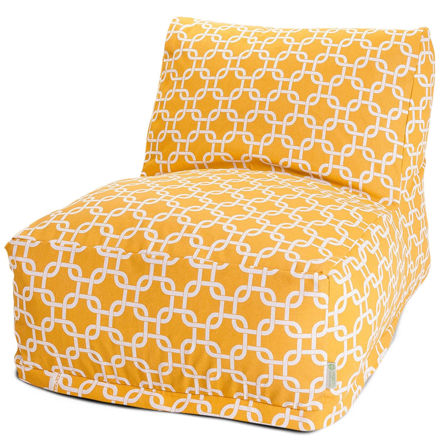 Amazon Majestic Home Goods Yellow Links Bean Bag Chair