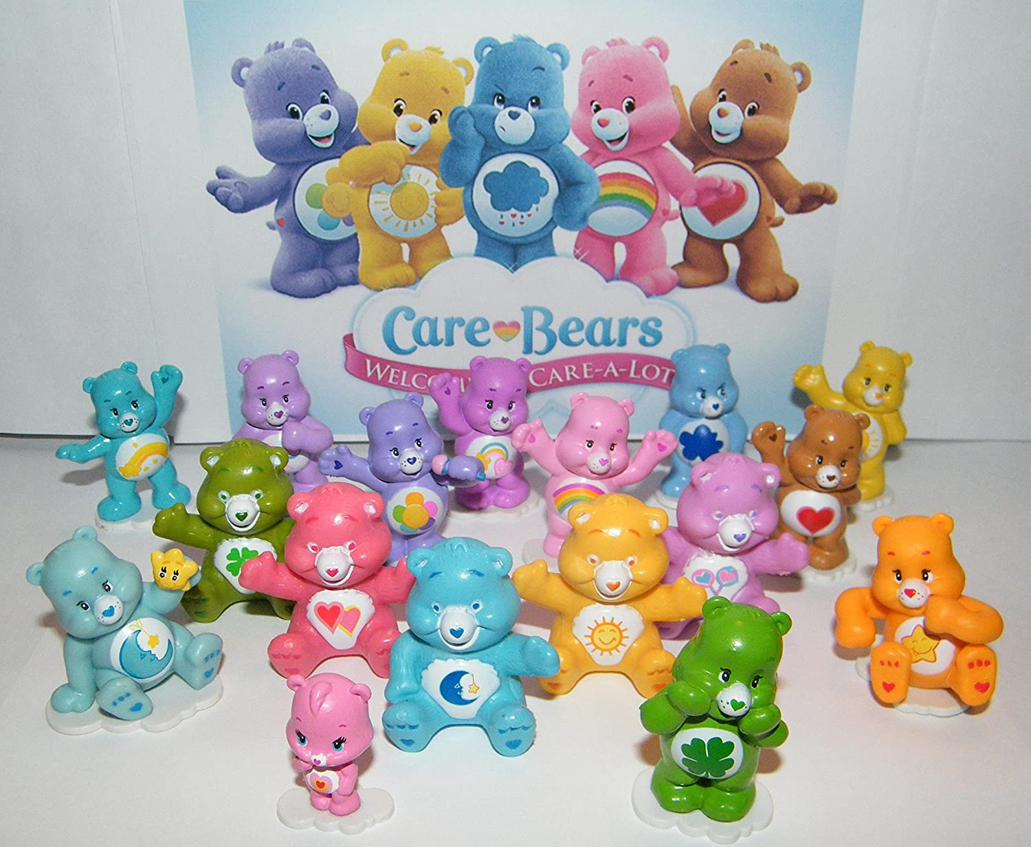 Care Bear Deluxe Figure Toy Set Of 17 Different Care Bears With Wonderheart Bear, Funshine Bear, Cheer Bear And Many More! by Care Bears
