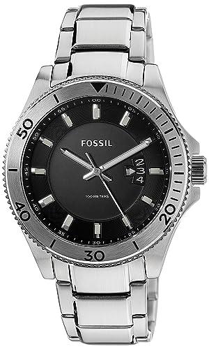 a2d5055c3a52 Fósil de hombre fs5058 Wakefield acero inoxidable reloj con enlace pulsera   Fossil  Amazon.es  Relojes