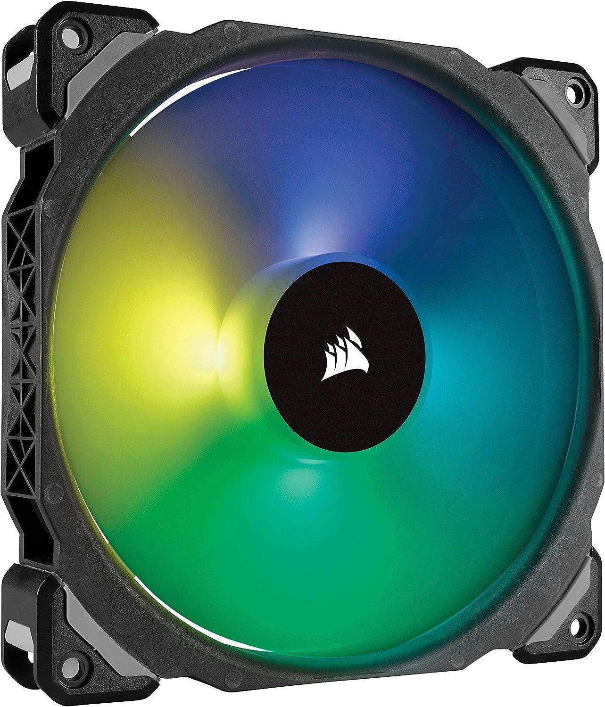 Corsair ML140 Pro - Ventilador de levitación magnética, 140 mm premium, con LED RGB, paquete sencillo (CO-9050077-WW)