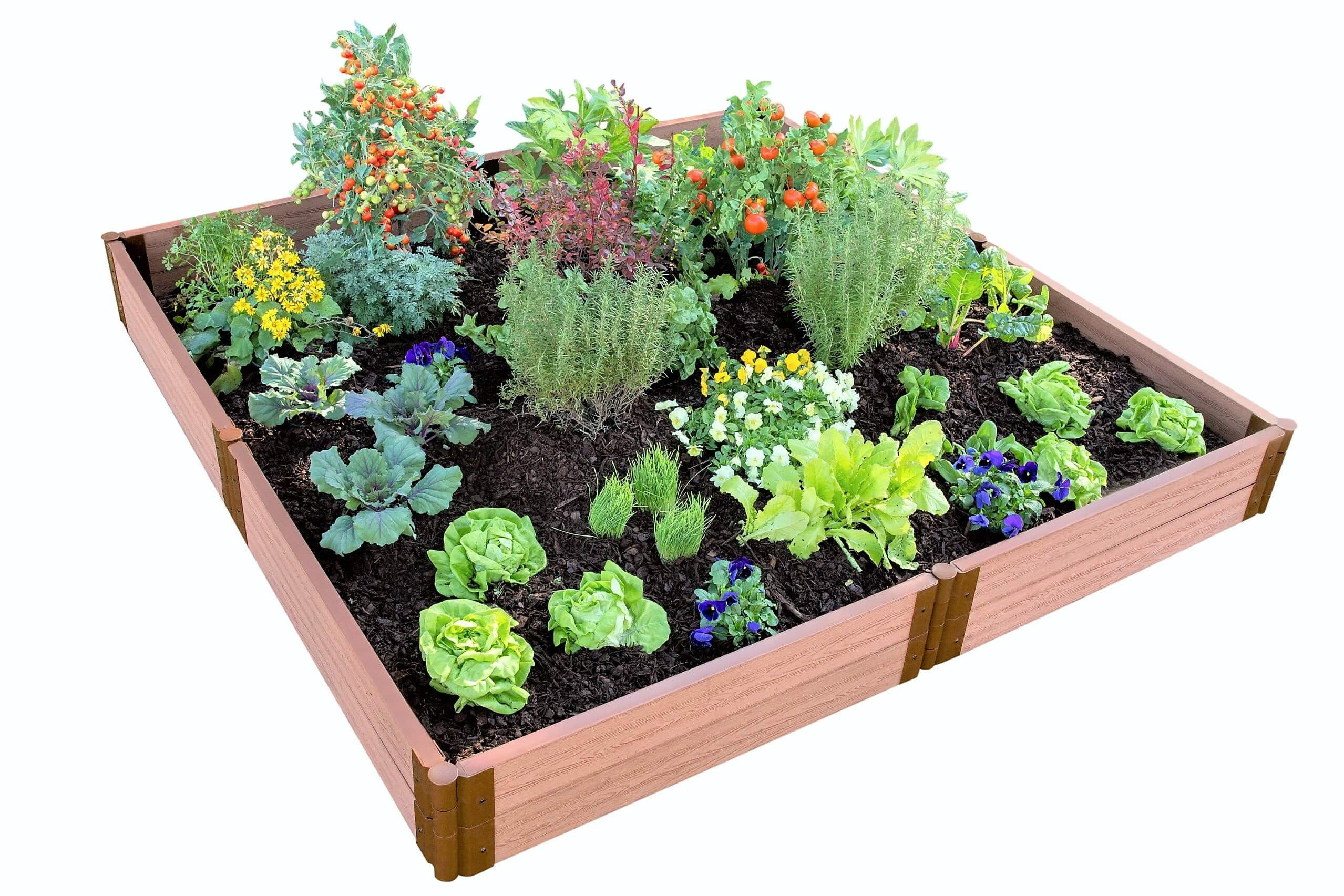 Frame It All 300001099 2'' Series Composite Raised Garden Bed Kit, 8' x 8' x 11'' by Frame It All