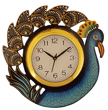 Buy Divine Crafts Wooden Wall Clock Multicolor Online at Low