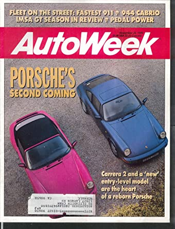 AUTO WEEK Porsche Carrera 2 911 944 Cabrio IMSA GT Volvo 740 Turbo 11/20