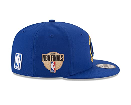 buy online 52ba9 a929a Amazon.com   New Era Golden State Warriors 2018 Western Conference Champions  NBA FINALS 9FIFTY Snapback Adjustable Hat - Royal   Clothing