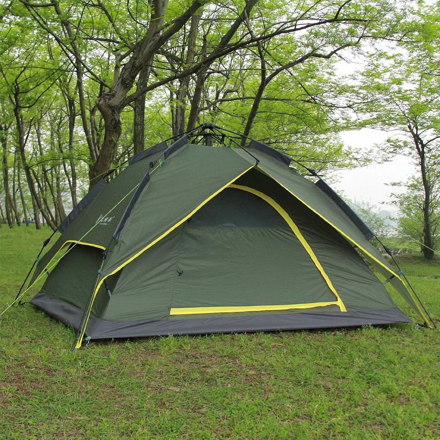Automatic Outdoor 2 Person Double Layer Instant Camping Family Tent Waterproof by instant pop up tent   B00P5RS6AY