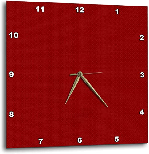 3dRose DPP_180515_2 Dark Red and Light Red Square Patterns Wall Clock, 13 by 13-Inch