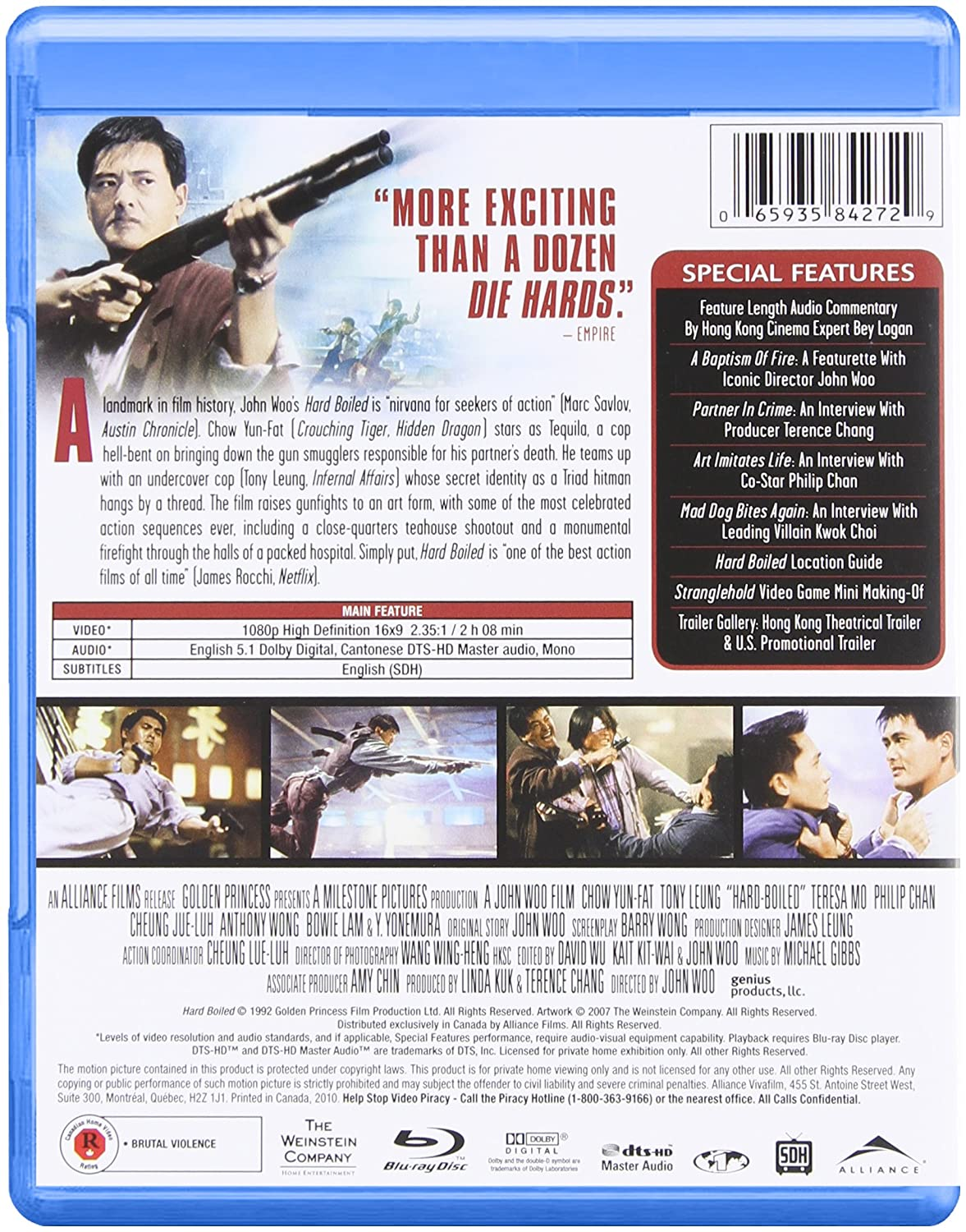 amazon com hard boiled ultimate edition blu ray 2010 john amazon com hard boiled ultimate edition blu ray 2010 john woo movies tv