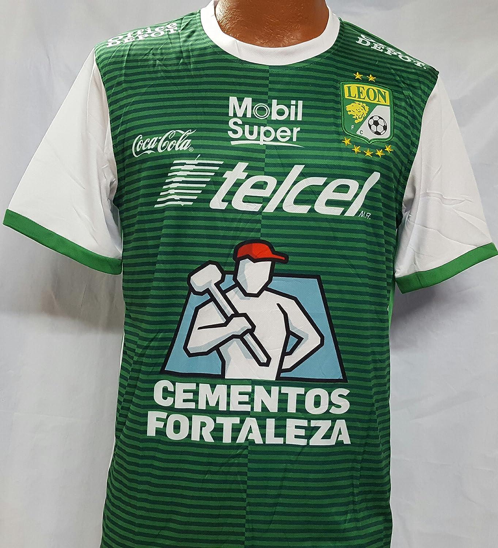 新しい。Liga MX Club Deportivo LeonラフィエラグリーンJersey Medium B07B6V2CXH