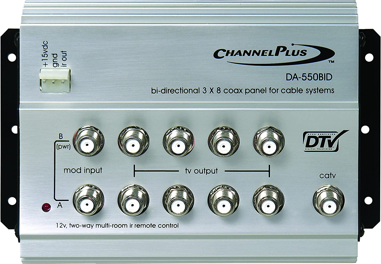 Linear DA-550BID Channelplus Bi-Directional Rf Distribution Amplifier with 12V Ir