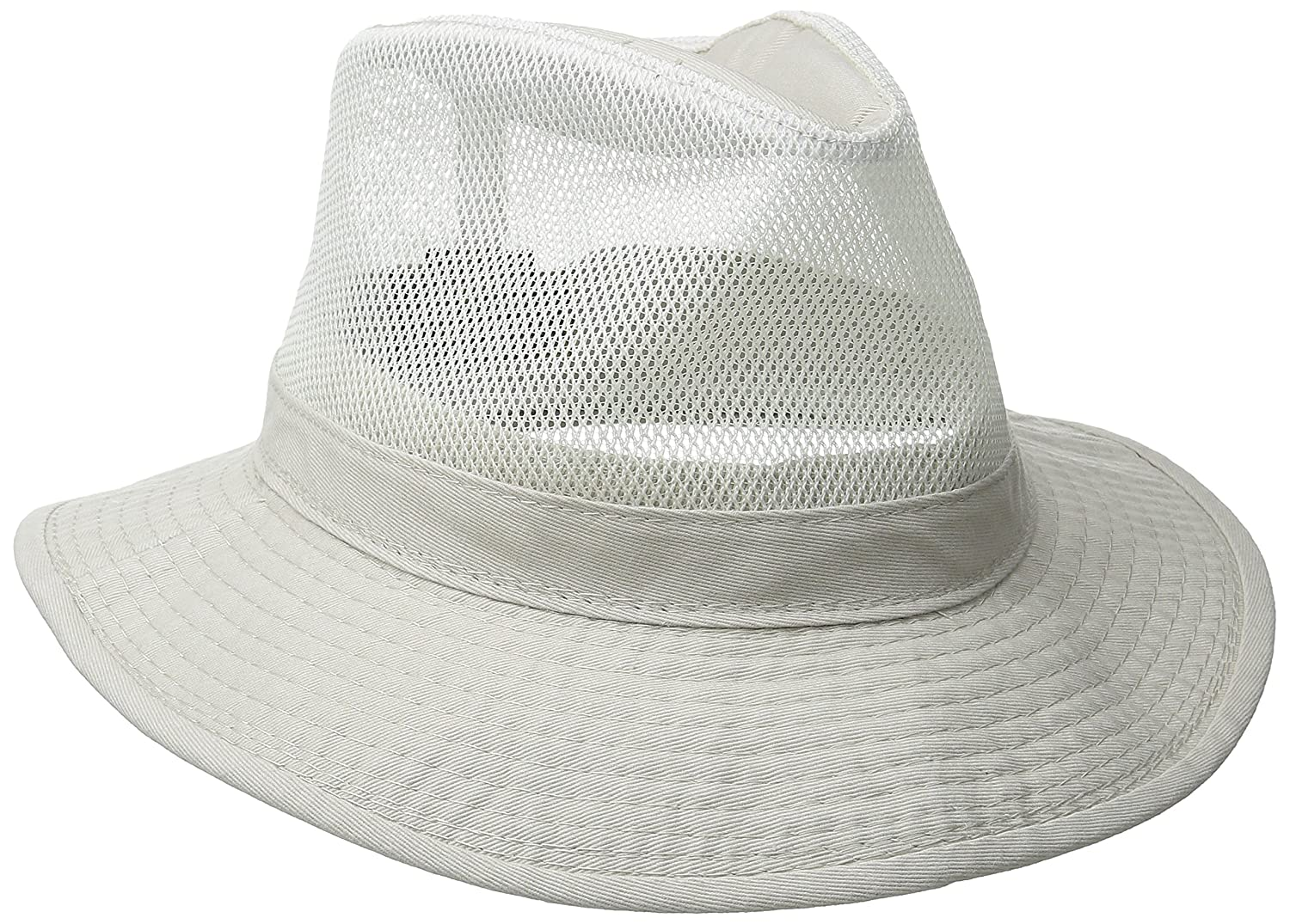 d72c541c8a077 Dorfman Pacific Men s Garment Washed Twill Safari Hat With Mesh ...