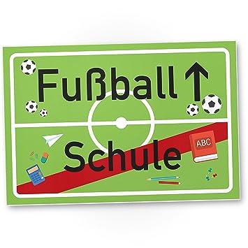 Dankedir Fußball Schule Kunststoff Schild Geschenk