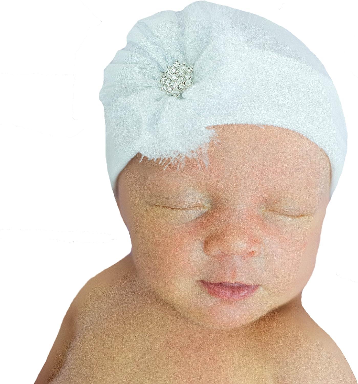 Shabby Chic 3 Hospital Newborn Beanie Newborn/'s First Flower