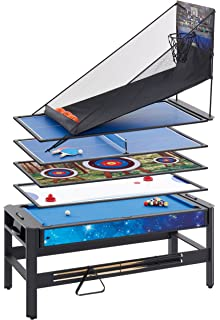 2bb9e1fb068 Mightymast Leisure 6ft PENTAGON Multigames 5-IN-1 Table Incorporating Pool