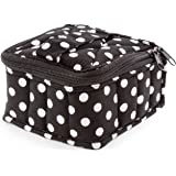 "Plant Therapy Soft Essential Oils Carrying Case. 16-bottle 5mL, 10mL & 15mL - 3""x5""x5"" - Polka Dot/Black"