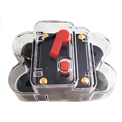 150 AMP 12V DC Circuit Breaker Replace Fuse 150A 12/24V DC Comes with Cover: Car Electronics