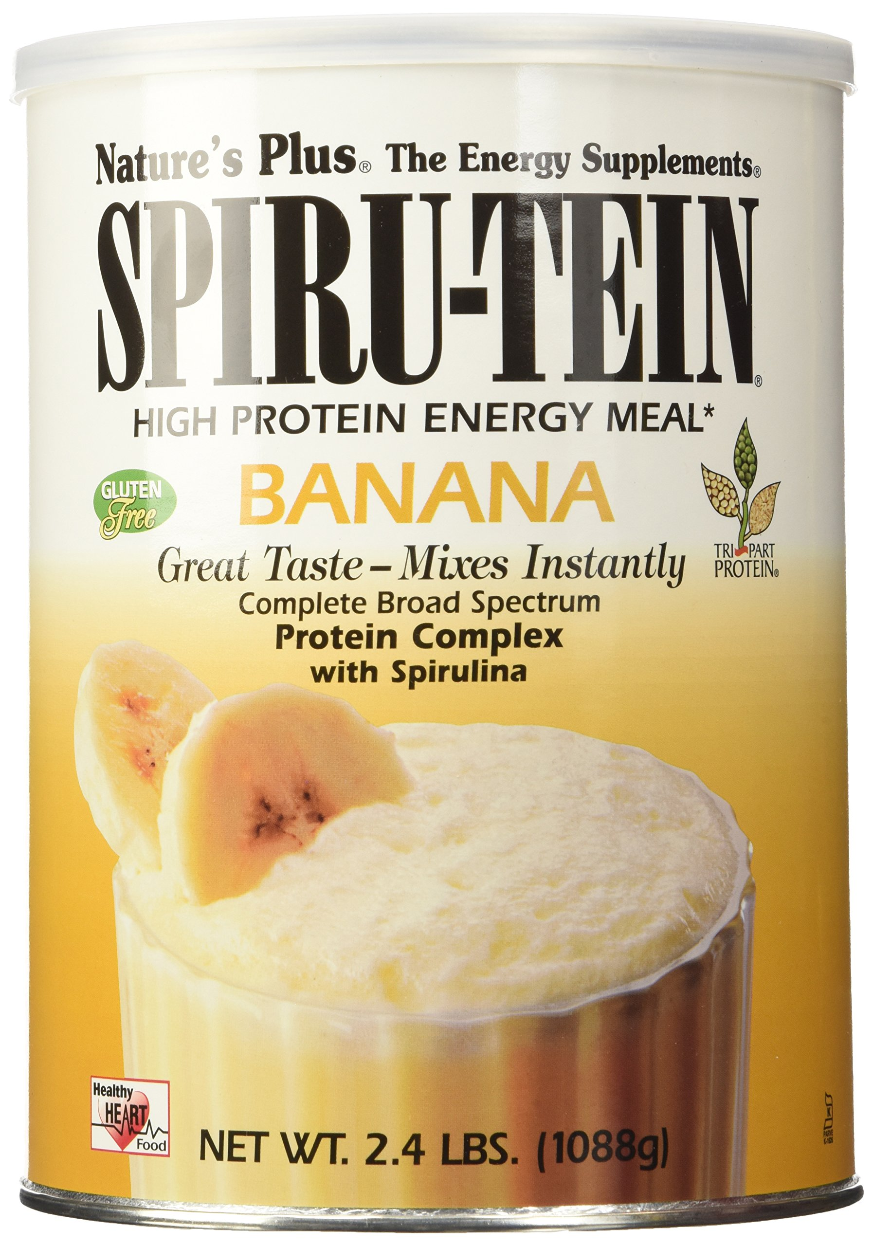 Nature's Plus - Simply Natural Vanilla Spirutein Shake Unsweetened 1.63 lbs