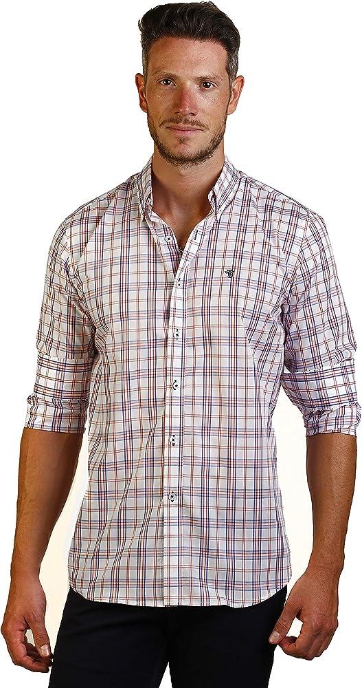 THE TIME OF BOCHA Camisa Hombre JI1COT-238 Talla XS: Amazon.es: Ropa y accesorios