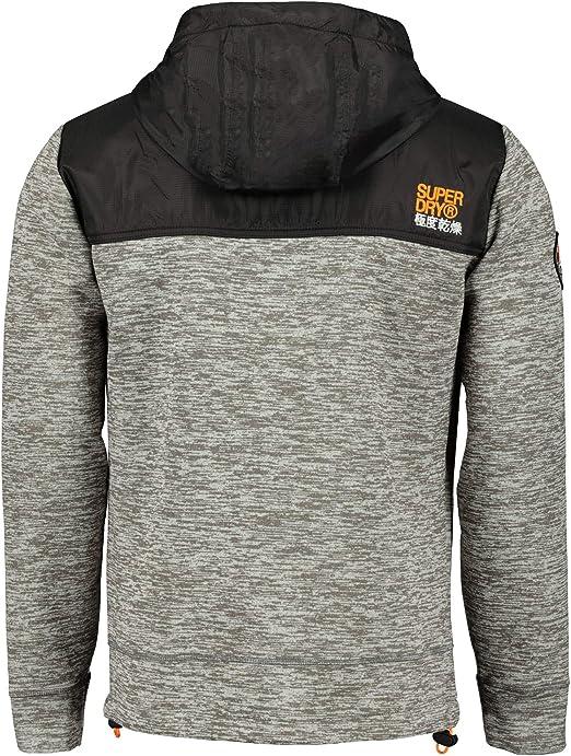 Superdry Sweat Veste Mountain Tech Gris chiné m20101mt LLW Silver